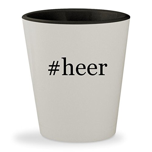 #heer - Hashtag White Outer & Black Inner Ceramic 1.5oz Shot (Heering Cherry Liqueur)