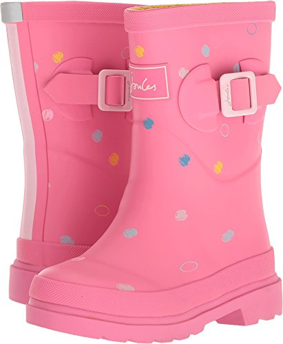 Girls Wellies - Joules Girls Printed Welly Rain Boot, Pink Spot, 11 M US Little Kid