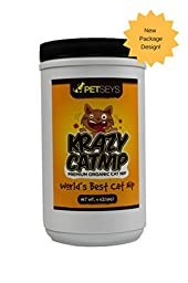 Krazy Catnip • World\'s Best! • Fresh & Organic • Perfect for Catnip Toys • Stimulates Playful Behavior • Great for ALL Cats • Hand Picked & Packed With Love • Grown in the USA • BIG 4 Ounces!