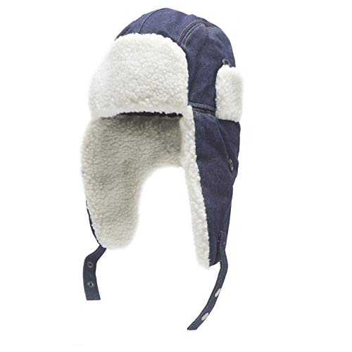 57c5cc1f5b5a5 Heat Edge Warm Sherpa Trapper Hat with Fleece Lining   Ear Flaps - Aviator  Russian Ushanka