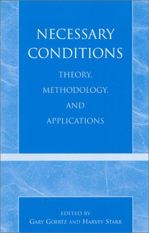 Necessary Conditions: Theory, Methodology, and Applications - Necessary Conditions