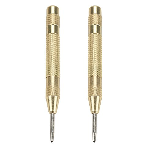 OSNY 5 inch Automatic Spring Loaded Center Punch Tool Determine Drilling Position for Steel, Wood, Plastic Window Glass Crushing Hand Tool (2-Pack)