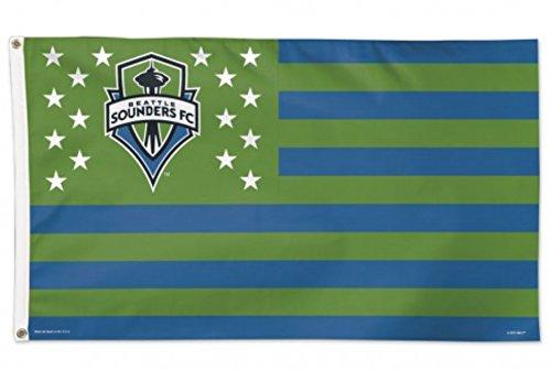 Seattle Sounders MLS WinCraft Green America Indoor Outdoor Deluxe Flag (3' X 5') ()