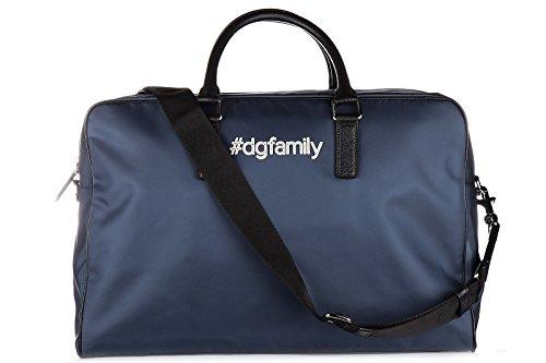 Dolce&Gabbana sac de voyage en Nylon weekend dgfamily blu