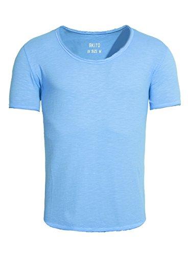 Été Modern Basic Bleu Clair shirt Homme New T Akito Camaïeu Tanaka wZ8q78f