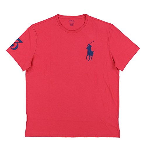 (Polo Ralph Lauren Mens Crew Neck Big Pony T-Shirt (XL, Red))