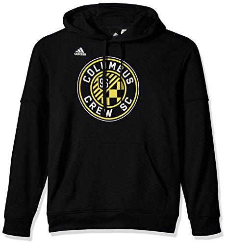 fan products of adidas MLS Columbus Crew Adult Men Logo Set Team Issued Fleece Hood, X-Large, Black