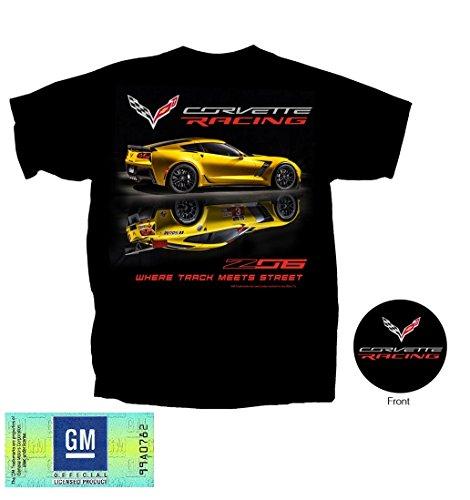 C7 Corvette - Z06 Corvette Racing T-shirt : Black (XL)