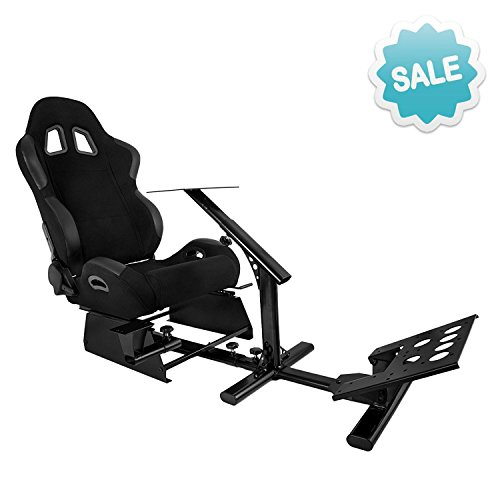 VEVOR Driving Simulator Gaming Chair Adjustable and Foldable Racing Cockpit Seat with Gear Shifter Mount for  sc 1 st  Racing Gaming Chairs & VEVOR Driving Simulator Gaming Chair Adjustable and Foldable Racing ...