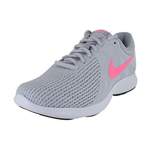 Nike Womens Revolution 4 Wide Running Shoe Puro Platino / Tramonto Pulse - Lupo Grigio