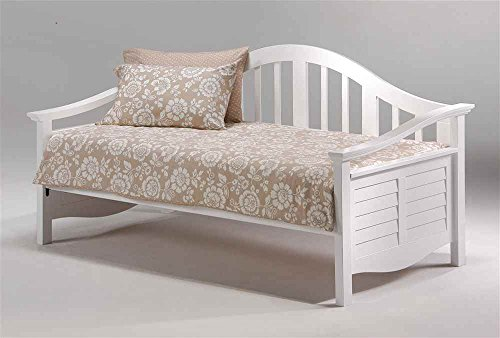 Seagull Day Bed in White w Louver Sides