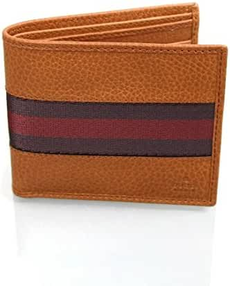 Gucci Men's Leather Web Detail Bifold Wallet 231845