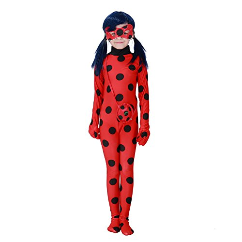 Hallowmax Halloween Cosplay Ladybug Kid Costumes Chlid Little Beetle Suit (Small)