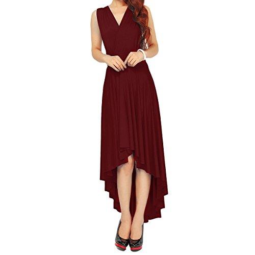 Back Wrap Gown (Women Transformer Infinity Evening Dress Multi-Way Wrap Convertible Halter Maxi Floor Long Dress High Elasticity)