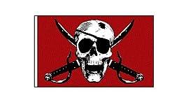 ATV Red Pirate Skull 12\