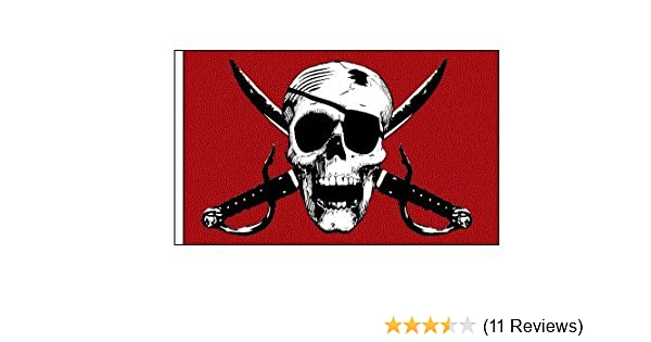 Tusk Quick Release 1//4/' Black Flag Pole Holder 6/' Flag Pole w// Skulls Flag