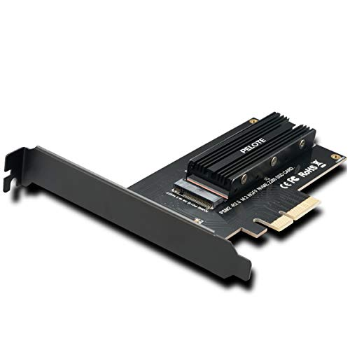 M.2 PCIe NVMe SSD to PCIe 3.0 x 4 Adapter Card with Aluminum Heatsink