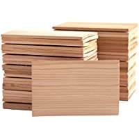 50 Pack Small 4x6 Cedar Grilling Planks - Bulk Quantity for Restaurants and Chefs