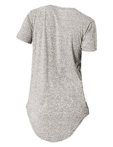 13770e4da Moomphya Mens Hipster Hip Hop Streetwear Short Sleeve T Shirts Curve Hem  Longline T-Shirt