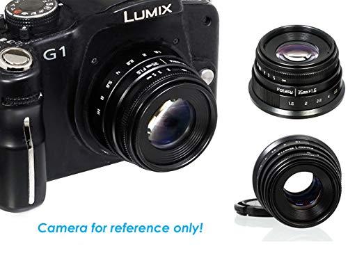 Fotasy Manual 35mm f1.6 APSC Lens for M43 MFT Micro 4/3 Mirrorless Cameras, fit Olympus E-PL8 OM-D E-M1 I II E-M1X E-M5 I II III E-PM2 E-PM1/Panasonic G7 G9 GF7 GF8 GH5 GM5 GX7 GX8 GX9 GX85 GX80 GX85