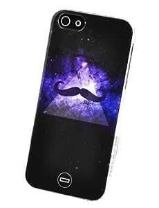 Circle Case - Carcasa para Apple iPhone 5, diseño galáctico con bigote