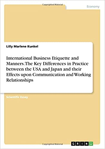 International Business Etiquette And Manners The Key Differences In  International Business Etiquette And Manners The Key Differences In  Practice Between The Usa And Japan And Their Effects Upon Communication And  Working