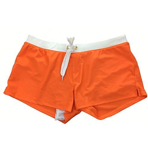 ZQ@QXL'Europe et les États-Unis men's fashion boxer short de natation,S,Orange