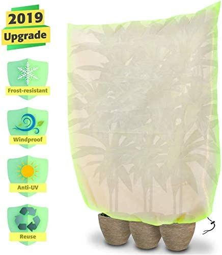 Garden Plant Warming Fleece Jacket Frost Protection Cover Tree Protector Green