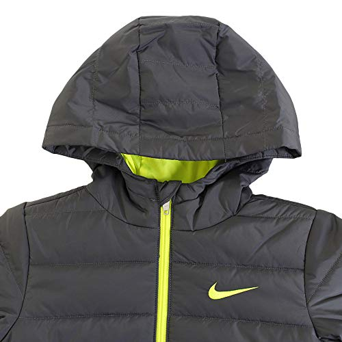 Nike Kids Boy's Quilted Jacket (Little Kids) Dark Gray 5 by Nike (Image #3)