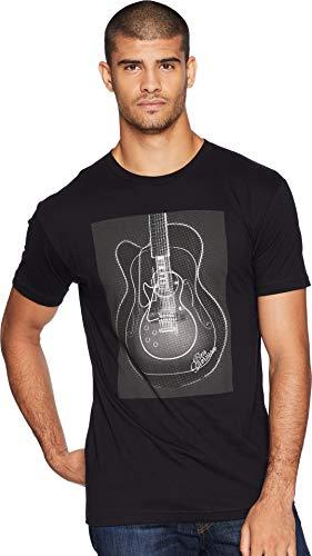 Ben Sherman Men's Guitar Screen Tee, Black, (Ben Sherman Guitar)