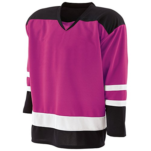 Holloway Adult Faceoff Hockey Jersey Mens-Power Pink/Black/White XXX-Large