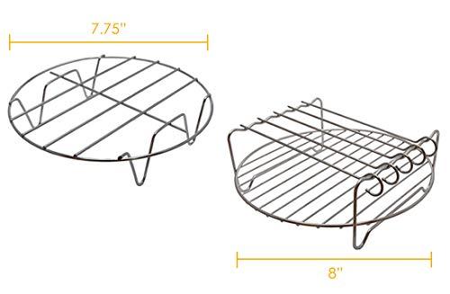 Fryer - Juego de accesorios para freidora de aire de 5,3 quilates y 5,8 quilates, incluye bandeja para pizza, barril, alfombrilla de silicona, ...