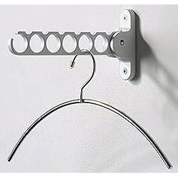 "Spectrum Hanger Holder Color: White (Size: 11 3/4"" H x 2 "" W x 1 1/4"" D) - 2 Count"