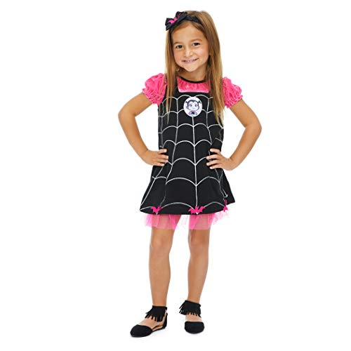 Baby Girl Spider Halloween Costume (Disney Vampirina Infant Baby Girls Costume Dress & Headband Set 18)