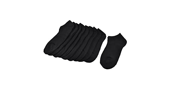 Amazon.com : eDealMax Mujeres Negro Color sólido Corto escotado Correr Calcetines 10 Pares : Sports & Outdoors
