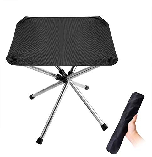 Walsking Folding Camping Stool,Portable Camping Fishing Chair,Outdoor Slacker Chair for Backpacking,Hiking,BBQ,Picnic,Travel,Beach Chair with Carry Bag