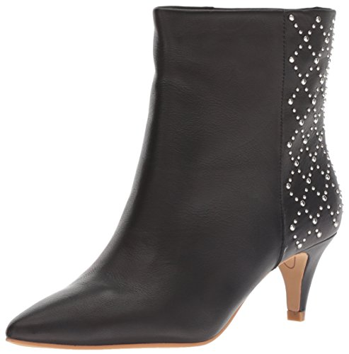 Ankle Black Boot Dolce Leather Vita Women's Dot BqgXt
