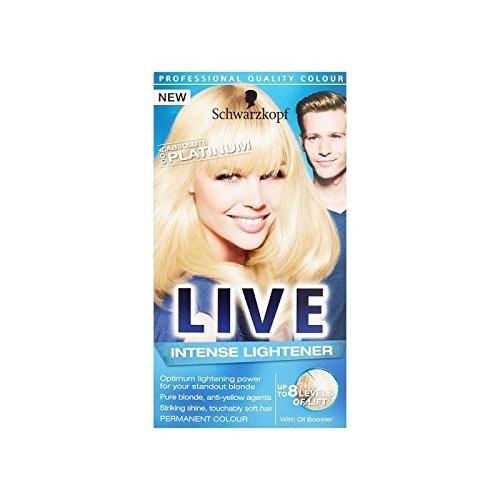 Schwarzkopf Live Color Xxl Hd 00A Absolute Platinum Permanent Blonde Hair Dye (Live Color Xxl Colour Intense Cosmic Blue 90)