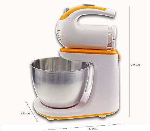 Chutd Keukenmachine, krachtige 300 W handmixer met roerbezem, 3 liter draaibare kom, 5 snelheidsniveaus, garde, geschikt voor de keuken thuis