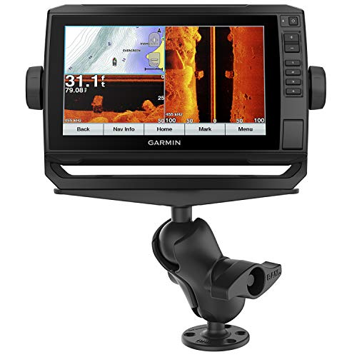 Garmin echoMAP Plus 93sv US LakeVu g3 with Protective Cover, GT52HW-TM Transducer and RAM Mount Large Marine Mount Bundle (010-01901-05) ()