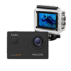 MGcool Explorer-Pro 4K Action Camera by Kissliss, 100ft Underwater Waterpoof Sports Camera Wifi 16MP Ultra HD Wide Lens Angle in 170°Camcorder Great for Indoor and Outdoor Activities