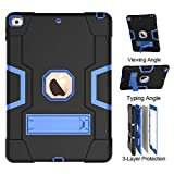 New iPad 10.2 2019 Case - UZER Heavy Duty Shockproof Anti-Slip Silicone High Impact Resistant Hybrid Three Layer Armor Protective Case Cover with Kickstand for iPad 10.2 inch 7th Generation (2019 Model)