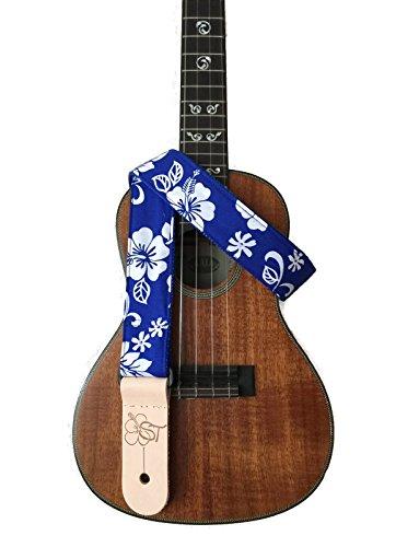 sherrins-threads-15-hawaiian-print-ukulele-strap-blue-hibiscus