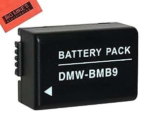 DMW-BMB9 Battery for Panasonic Lumix DC-FZ80, DMC-FZ40K, DMC-FZ45K, DMC-FZ47K, DMC-FZ48K, DMC-FZ60, DMC-FZ70, DMC-FZ100, DMC-FZ150 Digital Camera