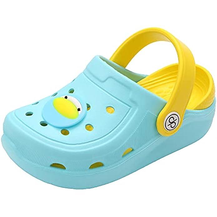 dripdrop Girls Comfort Clogs Kids Slip On Garden Shoes Boys Lightweight Beach Pool Slide Sandals Shower Slipper (Toddler/Little Kids)