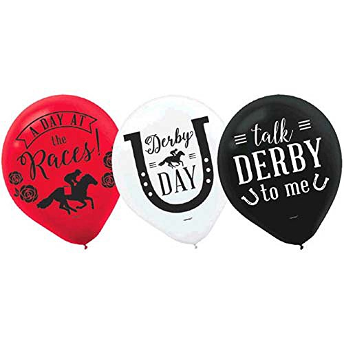 Great Deal! Kentucky Derby 'Derby Day' Latex Balloons (15ct)