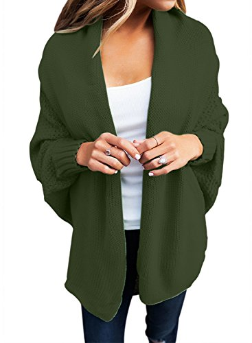 Woman Casual Woman Knit Cardigan Coat (Green) - 4