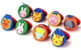 Foraineam 8 Pieces Lovley Cute Animal Pattern Castanets Wooden Finger Castanet for Baby Early Education
