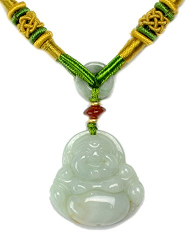 Live in Joy, Cute Happy Buddha Carved Ja - Luck Buddha Pendant Shopping Results