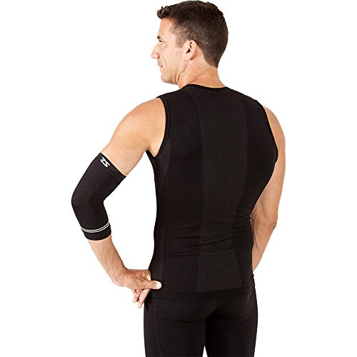 Zensah Compression Tennis Elbow Sleeve for Elbow Tendonitis, Tennis Elbow, Golfer's Elbow - Elbow Support, Elbow Brace,Medium,Black